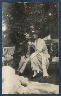 Lytton Strachey; Virginia Woolf, by Lady Ottoline Morrell - NPG Ax141460