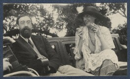 Lytton Strachey; Virginia Woolf, by Lady Ottoline Morrell, June 1923 - NPG  - © National Portrait Gallery, London