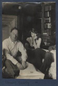 Sir Desmond MacCarthy; Julian Vinogradoff (née Morrell), by Lady Ottoline Morrell - NPG Ax141465