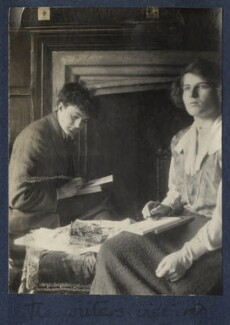 'The writers inspired' (Mark Gertler; Julian Vinogradoff (née Morrell)), by Lady Ottoline Morrell - NPG Ax141479