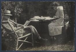 Mark Gertler; Julian Vinogradoff (née Morrell), by Lady Ottoline Morrell - NPG Ax141483