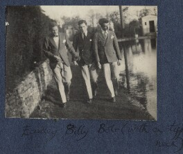 Eardley Knollys; William Henry Smith, 3rd Viscount Hambleden; Bob Gathorne-Hardy, by Lady Ottoline Morrell - NPG Ax141487