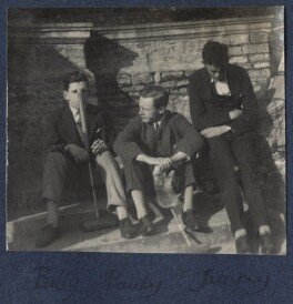 William Henry Smith, 3rd Viscount Hambleden; Arthur Gore, 7th Earl of Arran; Hon. James Frederick ('Jimmy') Smith, by Lady Ottoline Morrell - NPG Ax141491