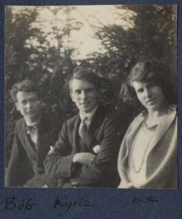 Bob Gathorne-Hardy; Kyrle Leng; Julian Vinogradoff (née Morrell), by Lady Ottoline Morrell - NPG Ax141492