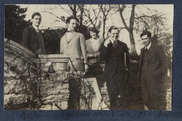 Group including Julian Morrell and Igor Vinogradoff, by Lady Ottoline Morrell - NPG Ax141495