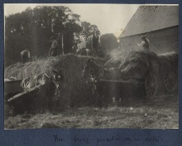 'Fire being quenched on a rick', by Lady Ottoline Morrell - NPG Ax141496