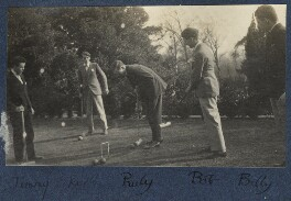 Playing croquet at Garsington, by Lady Ottoline Morrell, 1923-1924 - NPG Ax141498 - © National Portrait Gallery, London