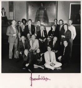 Photographers of 'Stars of the British Screen', by Norman Parkinson, 11 December 1985 - NPG x127320 - © Norman Parkinson Archive
