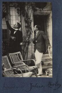 Philip Edward Morrell; Sir Julian Huxley, by Lady Ottoline Morrell - NPG Ax141500