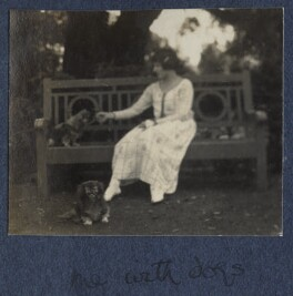 'Me with dogs', by Lady Ottoline Morrell - NPG Ax141528