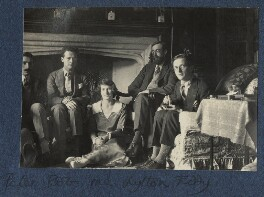 Julian with Garsington visitors, by Lady Ottoline Morrell - NPG Ax141545
