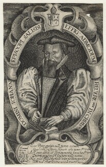 Robert Abbot, by Francis Delaram, published by  John Sudbury, and published by  George Humble, after  Unknown artist, circa 1617-1618 - NPG D20860 - © National Portrait Gallery, London