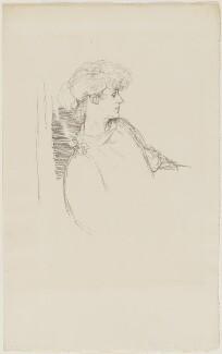 (Marion Margaret) Violet Manners (née Lindsay), Duchess of Rutland, by Sir William Rothenstein, 1897 - NPG D20879 - © National Portrait Gallery, London