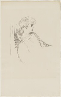 Violet Manners, Duchess of Rutland, by William Rothenstein - NPG D20879