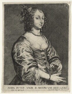 Mary (née Ruthven), Lady van Dyck, published by Frans van den Wyngaerde (Wijngaerde), after  Sir Anthony van Dyck - NPG D20906