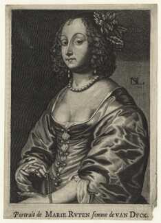 Mary (née Ruthven), Lady van Dyck, by Nicolas de Larmessin, after  Sir Anthony van Dyck - NPG D20907