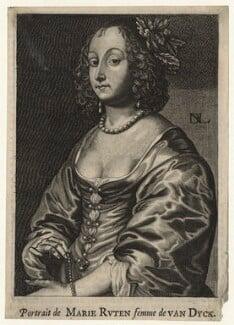 Mary (née Ruthven), Lady van Dyck, by Nicolas de Larmessin, after  Sir Anthony van Dyck - NPG D20907