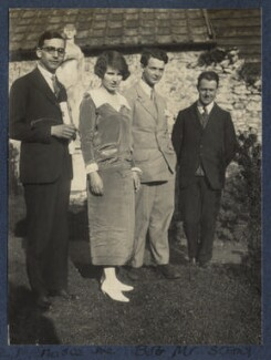 Julian with Garsington visitors, by Lady Ottoline Morrell - NPG Ax141549