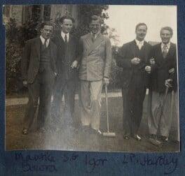Sir Maurice Bowra; Sylvester Govett Gates; Igor Vinogradoff; L.P. Hartley; Kyrle Leng, by Lady Ottoline Morrell - NPG Ax141557