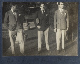 Eardley Knollys; William Henry Smith, 3rd Viscount Hambleden; Bob Gathorne-Hardy, by Lady Ottoline Morrell - NPG Ax141559