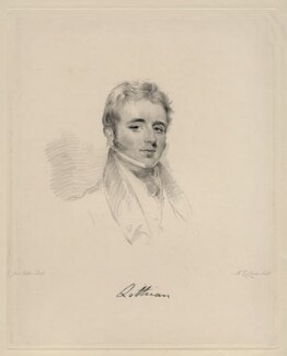 John William Robert Kerr, 7th Marquess of Lothian, by Frederick Christian Lewis Sr, after  Joseph Slater - NPG D20619