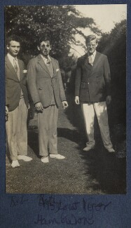 Bob Gathorne-Hardy; William Henry Smith, 3rd Viscount Hambleden; Igor Vinogradoff, by Lady Ottoline Morrell - NPG Ax141562