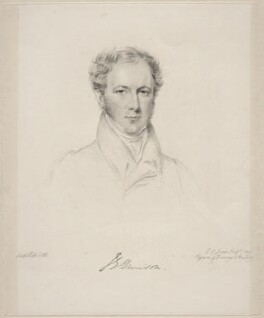 (John) Evelyn Denison, 1st Viscount Ossington, by Frederick Christian Lewis Sr, after  Joseph Slater, 1832 - NPG D20628 - © National Portrait Gallery, London