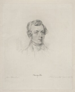 George William Frederick Howard, 7th Earl of Carlisle, by Frederick Christian Lewis Sr, after  Joseph Slater - NPG D20631