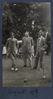'Croquet golf', by Lady Ottoline Morrell, 1924 - NPG Ax141570 - © National Portrait Gallery, London