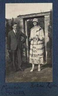 Sir Maurice Bowra; Rosamond Mary Rose (née Trafford), by Lady Ottoline Morrell - NPG Ax141572