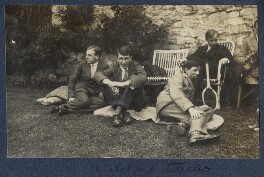 'Watching tennis', by Lady Ottoline Morrell, 1924 - NPG Ax141575 - © National Portrait Gallery, London