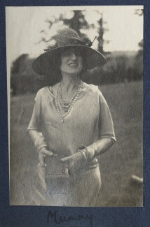 Lady Ottoline Morrell ('Mummy'), possibly by Philip Edward Morrell - NPG Ax141576