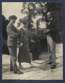 Mark Gertler; Julian Vinogradoff (née Morrell); Philip Edward Morrell, by Lady Ottoline Morrell - NPG Ax141577