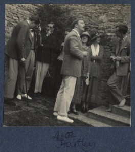 Peter Ralli; Jean de Menasce; L.P. Hartley; Lord David Cecil and four unknown sitters, by Lady Ottoline Morrell - NPG Ax141580