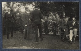 Sir Maurice Bowra; Peter Ralli and others, by Lady Ottoline Morrell - NPG Ax141583