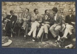 Gilbert Spencer; John Pilley; Kyrle Leng; L.P. Hartley; Peter Ralli; Hon. Robert Gathorne-Hardy; Jean de Menasce, by Lady Ottoline Morrell, 1924 - NPG Ax141586 - © National Portrait Gallery, London