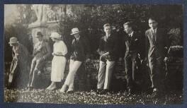 Baroness Renira Van Heeckeren Van Kell; Baroness Albertine Van Heeckeren Van Kell; Jean de Menasce and others, by Lady Ottoline Morrell, 1924 - NPG Ax141587 - © National Portrait Gallery, London