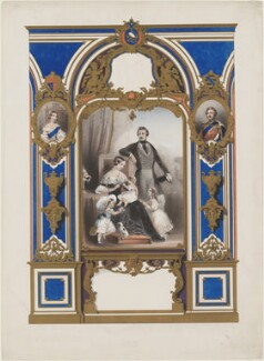 Queen Victoria, Prince Albert and family, by Unknown artist - NPG D20920