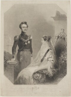 Her Most Gracious Majesty Queen Victoria and His Royal Highness Prince Albert Married Feby 10th 1840, by S. Bradshaw, after  Frank Topham - NPG D20923