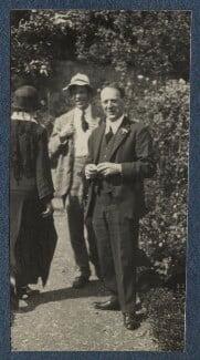Elfrida de la Mare (née Ingpen); Gilbert Spencer; Walter de la Mare, by Lady Ottoline Morrell, June 1924 - NPG Ax141613 - © National Portrait Gallery, London