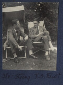 Leonard Alfred George Strong; T.S. Eliot, by Lady Ottoline Morrell - NPG Ax141640