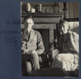 T.S. Eliot; Virginia Woolf, by Lady Ottoline Morrell - NPG Ax141646