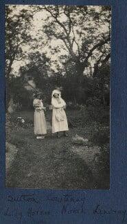 Frances Jane Horner (née Graham), Lady Horner; Norah Mary Madeleine Lindsay (née Bourke), by Lady Ottoline Morrell - NPG Ax141685