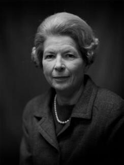 Alice Brooks (née Davis), Lady Sherfield, by Bassano Ltd - NPG x172302
