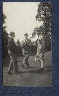 Walter James Redfern Turner; Gilbert Spencer; Bob Gathorne-Hardy, by Lady Ottoline Morrell - NPG Ax141701