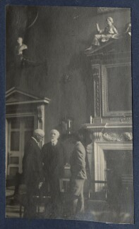 Harold Lee-Dillon, 17th Viscount Dillon; Mark Gertler and an unknown man, by Lady Ottoline Morrell - NPG Ax141734