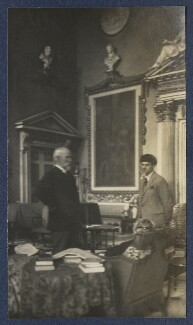 Harold Lee-Dillon, 17th Viscount Dillon; Mark Gertler and an unknown woman, by Lady Ottoline Morrell - NPG Ax141736
