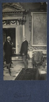 Harold Lee-Dillon, 17th Viscount Dillon and an unknown man, by Lady Ottoline Morrell - NPG Ax141737