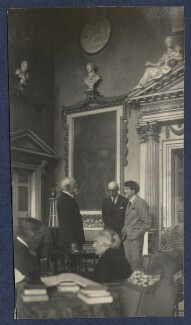 Philip Edward Morrell; Harold Lee-Dillon, 17th Viscount Dillon; Mark Gertler and two unknown sitters, by Lady Ottoline Morrell - NPG Ax141739
