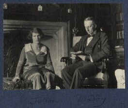 Julian Vinogradoff (née Morrell); Philip Edward Morrell, by Lady Ottoline Morrell - NPG Ax141526a